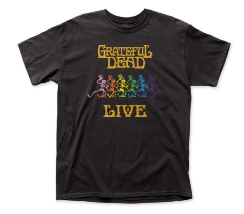 "GRATEFUL DEAD ""LIVE"" Mens Unisex T-Shirt - Available in Sm to 2x 100% cotton high quality pre shrunk machine washable t-shirt"