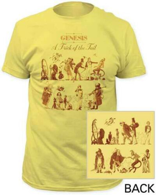 "GENESIS A TRICK OF THE TAIL"" Album cover Mens Unisex T-Shirt -Available Sm to 3x 100% cotton high quality pre shrunk machine washable t-shirt"