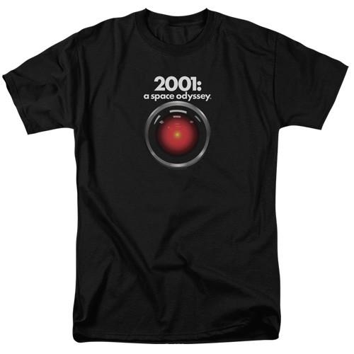 2001 A space odyssey-HAL 100% Cotton High Quality Pre Shrunk Machine Washable T Shirt