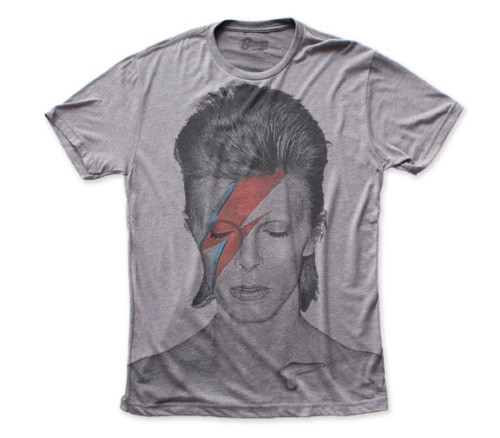 "David Bowie ""Aladdin Sane"" Album Cover Mens Unisex T-Shirt -Available Sm to 2x 100% cotton high quality pre shrunk machine washable t-shirt"