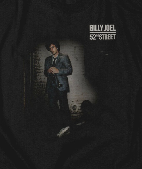 "Billy Joel ""52nd Street"" Mens Adult Unisex T-Shirt New -Available Sm > 5x 100% cotton high quality pre shrunk machine washable t-shirt"