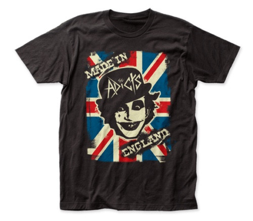 "ADICTS ""Made in England!"" Mens Unisex T-Shirt. Available in Sm to 2x 100% cotton high quality pre shrunk machine washable t-shirt"