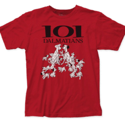 Disney-101 Dalmatians 100% Cotton High Quality Pre Shrunk Machine Washable T Shirt