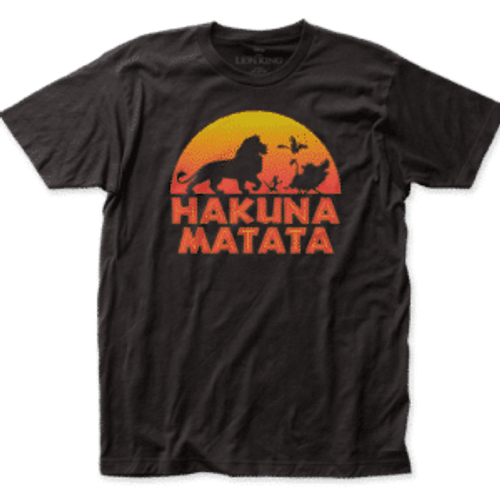 Disney-The lion king hakuna matata 100% Cotton High Quality Pre Shrunk Machine Washable T Shirt