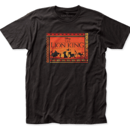 Disney-The Lion King Sunset 100% Cotton High Quality Pre Shrunk Machine Washable T Shirt