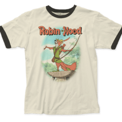 Disney-Robin Hood 100% Cotton High Quality Pre Shrunk Machine Washable T Shirt