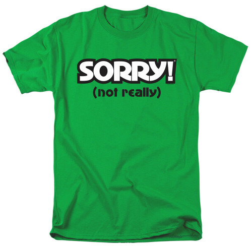 """Sorry the Board Game """"Sorry, Not Realyl"""" Mens Unisex T-Shirt, Available Sm to 3x 100% Cotton High Quality Pre Shrunk Machine Washable T Shirt"""