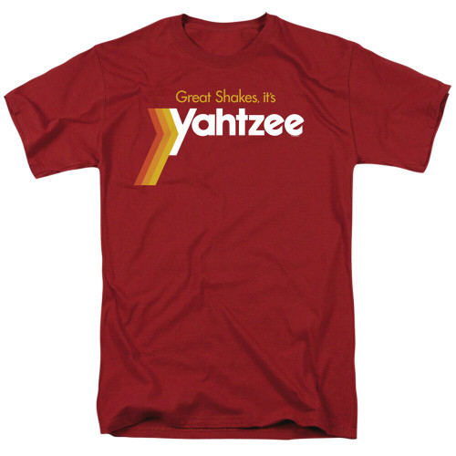 """Yahtzee the Board Game """"Great Shakes"""" Mens Unisex T-Shirt, Available Sm to 3x 100% Cotton High Quality Pre Shrunk Machine Washable T Shirt"""