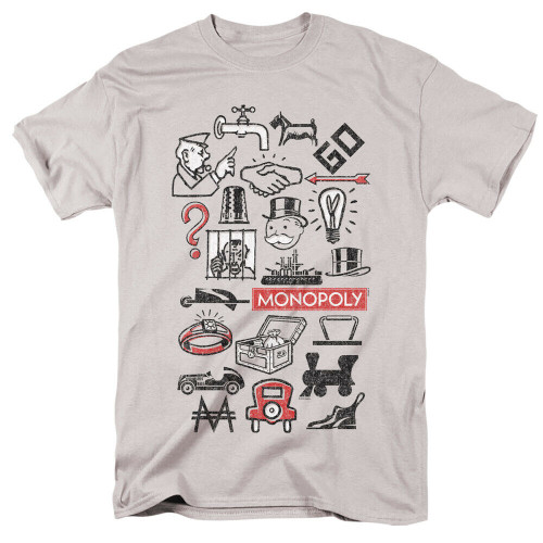 """Monopoly """"Game Characters"""" Mens Unisex T-Shirt, Available Sm to 3x 100% Cotton High Quality Pre Shrunk Machine Washable T Shirt"""