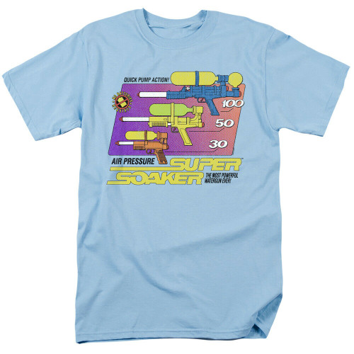 "Super Soaker ""Size Matters"" Mens Unisex T-Shirt, Available Sm to 3x 100% Cotton High Quality Pre Shrunk Machine Washable T Shirt"