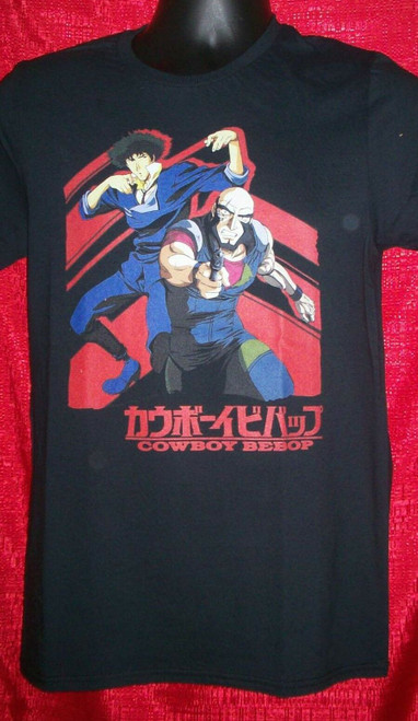 Cowboy Beebop Anime T-Shirt - Available Sm to XL 100% Cotton High Quality Pre Shrunk Machine Washable T Shirt