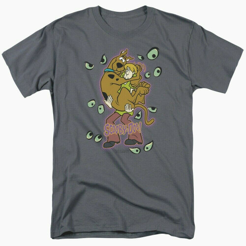 "Scooby Doo ""Eyes Watching"" Mens Adult Unisex T-Shirt -Available in Sm to 3x 100% Cotton High Quality Pre Shrunk Machine Washable T Shirt"