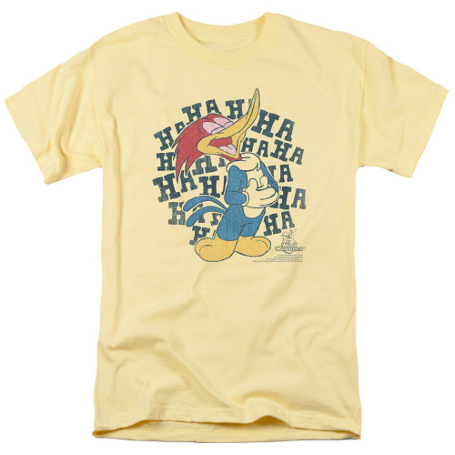 "Woody Woodpecker ""HA HA HA"" Mens Adult Unisex T-Shirt -Available in Sm to 3x 100% Cotton High Quality Pre Shrunk Machine Washable T Shirt"