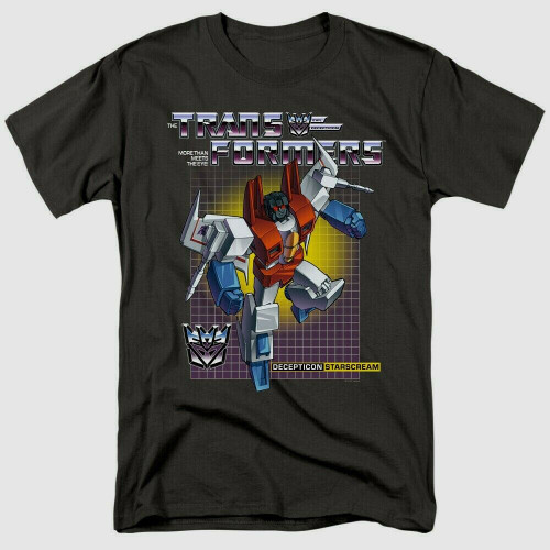 "Transformers ""Starscream"" Mens Adult Unisex T-Shirt -Available sm to 3x 100% Cotton High Quality Pre Shrunk Machine Washable T Shirt"