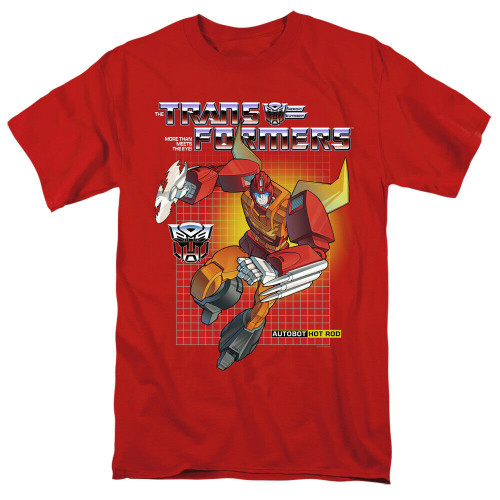 "Transformers ""Hot Rod"" Mens Adult Unisex T-Shirt -Available sm to 4x 100% Cotton High Quality Pre Shrunk Machine Washable T Shirt"