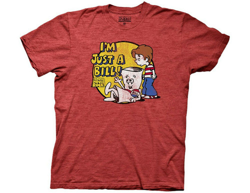 """SCHOOLHOUSE ROCK """"I'M JUST A BILL"""" Mens Unisex T-Shirt-Available Sm to 2x 100% Cotton High Quality Pre Shrunk Machine Washable T Shirt"""