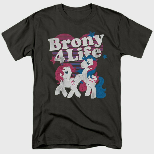 "My Little Pony ""Brony 4 Life"" Mens Unisex T-Shirt Available Sm to 3x 100% Cotton High Quality Pre Shrunk Machine Washable T Shirt"