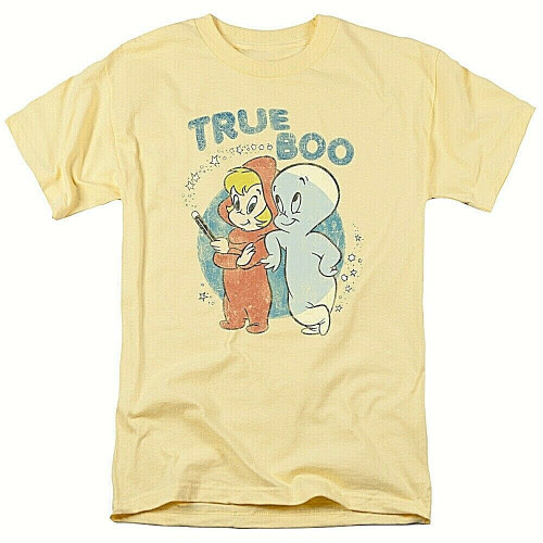 "Casper the Friendly Ghost & Wendy ""Harvey Comics"" Mens Unisex T-shirt -Sm to 3x 100% Cotton High Quality Pre Shrunk Machine Washable T Shirt"