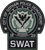 4.5 inch tall, Batman The Dark Knight Gotham Police Dept. SWAT Team shoulder embroidered patch. Sew on or iron on. New.