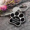 Who Rescued Who Paw Print Keyring