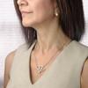 Nurse Double Heart Stethoscope Pendant Necklace