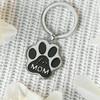 Fur Mom Paw Print Keyring