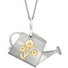 So Many Seeds So Little Time Flower Watering Can Pendant Necklace