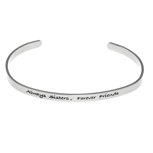 Always Sisters Scripted Cuff Bracelet