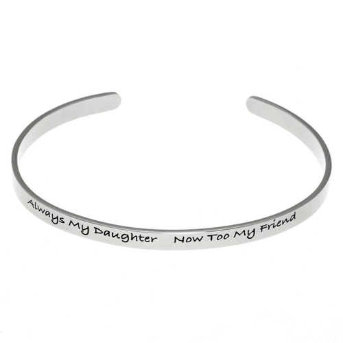 Always My Daughter Scripted Cuff Bracelet