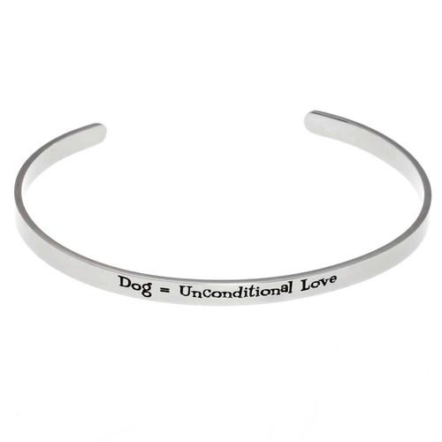 Dog Unconditional Love Cuff Bracelet