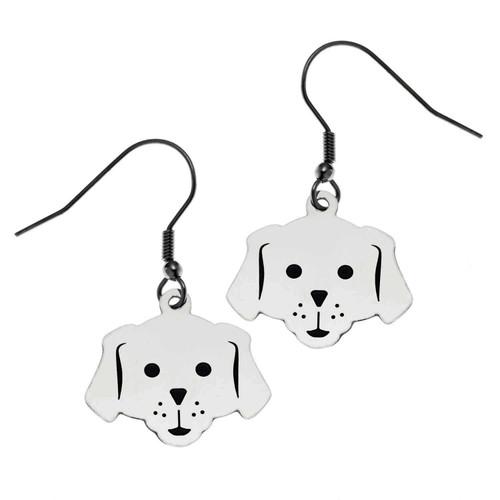 Dog Face Fish Hook Earrings Earrings 18 Joyful Sentiments
