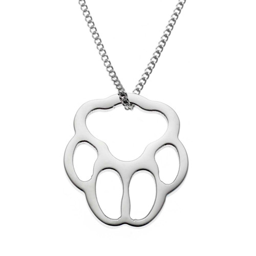 Large Paw Print Pendant Necklace
