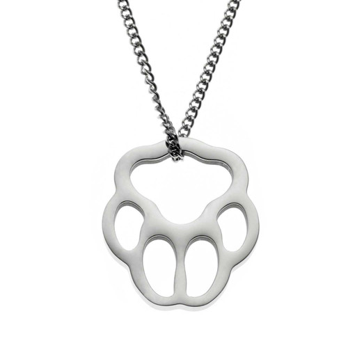 Small Paw Print Pendant Necklace