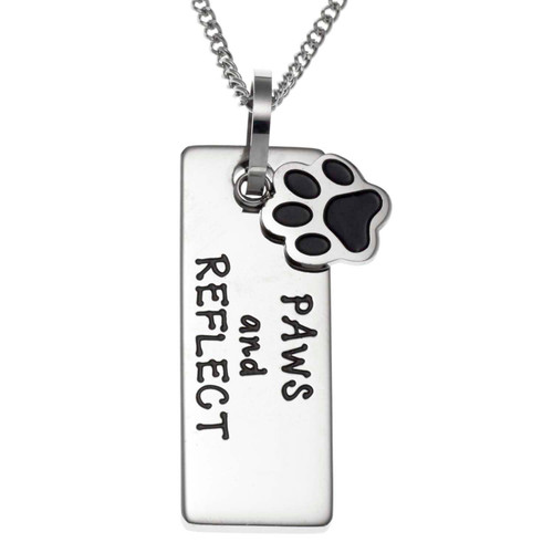 Paws and Reflect Pendant Necklace