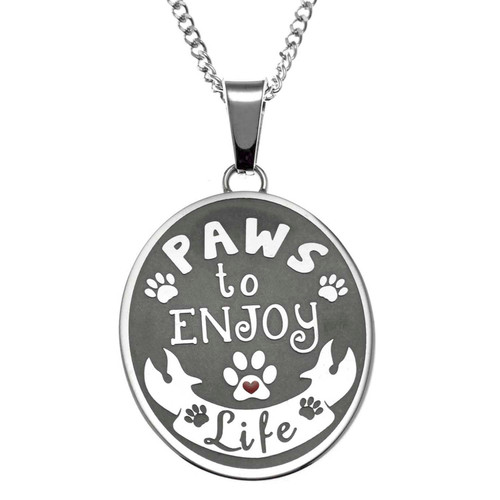 Paws To Enjoy Pendant Necklace