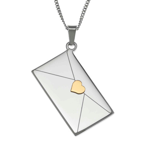 For the Little Girl Envelope Pendant Necklace