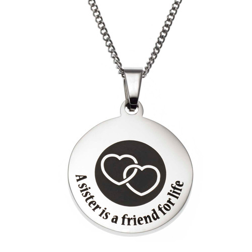 A Sister is a Friend Pendant Necklace