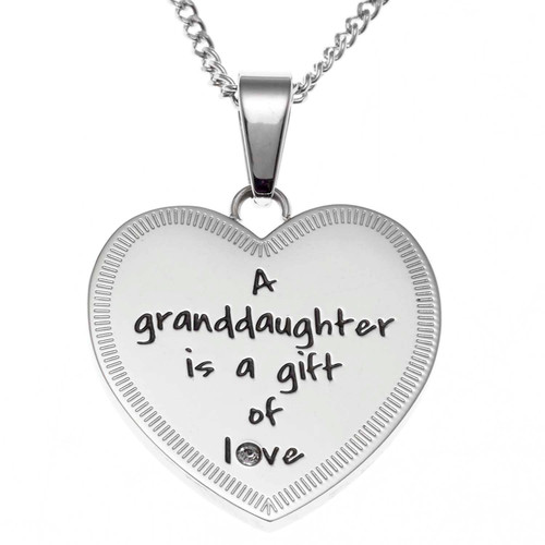 A Granddaughter Heart Pendant Necklace