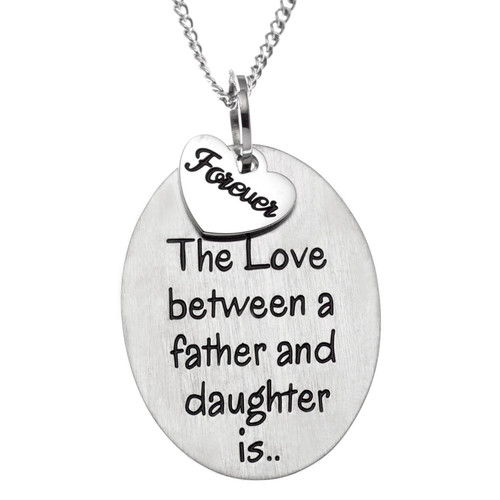 Father Daughter Love Pendant Necklace