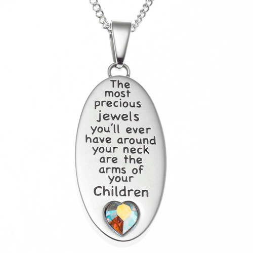 Arms of a Child Pendant Necklace