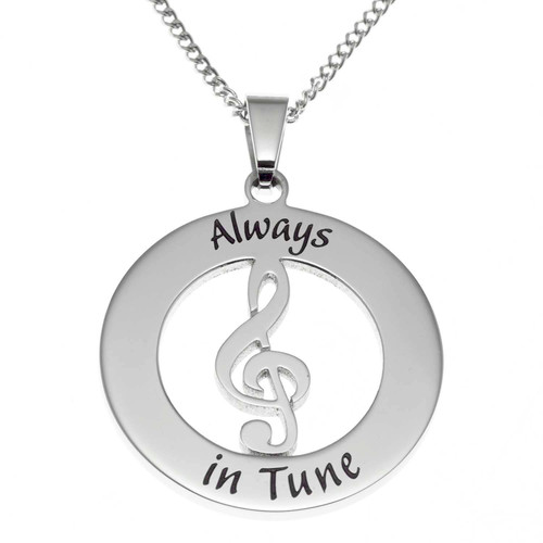 Always In Tune Treble Clef Pendant Necklace