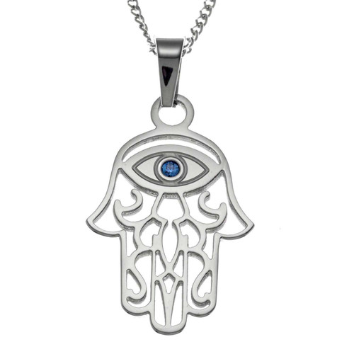 Filigree Hamsa Pendant Necklace