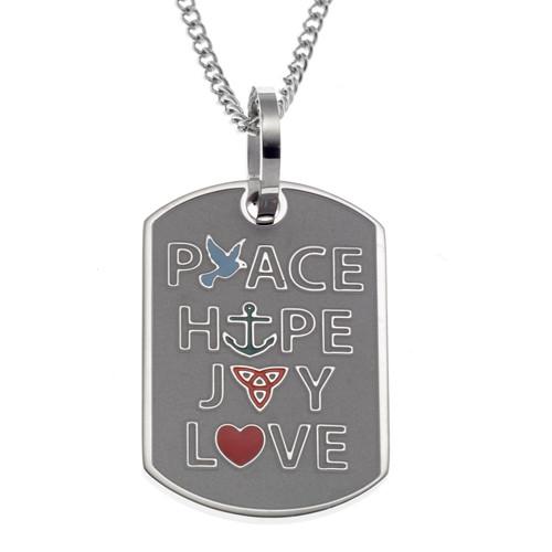 Peace Hope Joy Love Pendant Necklace