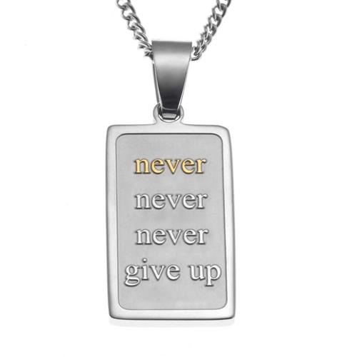 Never Give Up Pendant Necklace Pendants 20 Joyful Sentiments