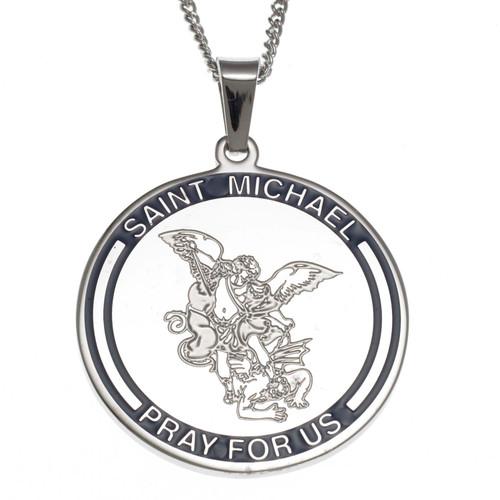 Saint Michael Pendant Necklace