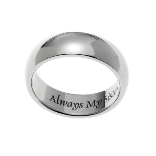 Domed Always Sisters Ring