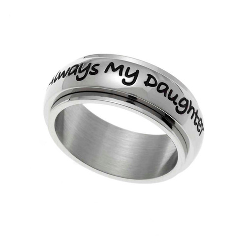 Always My Daughter Spinner Ring