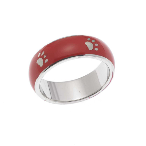 Red Paw Print Ring Rings 23 Joyful Sentiments