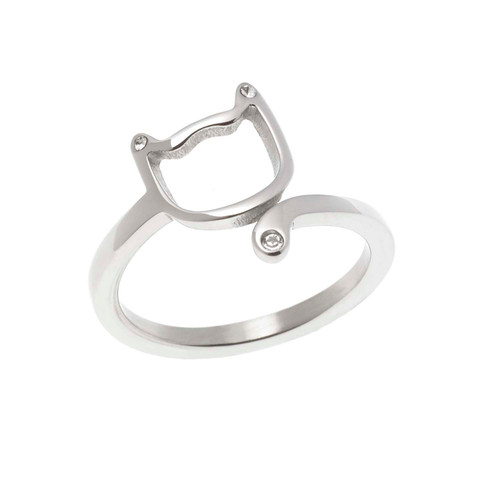 Cat Face Wrap Ring