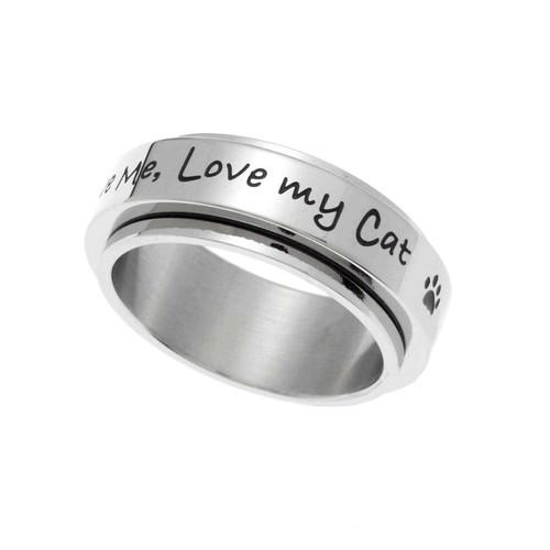 Love My Cat Spinner Ring Rings 23 Joyful Sentiments